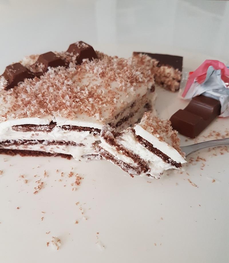 Kinderschokolade Milchschnitten Kuchen ohne Backen