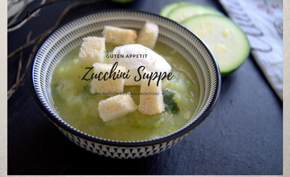 Zucchini Suppe mit Kartoffeln