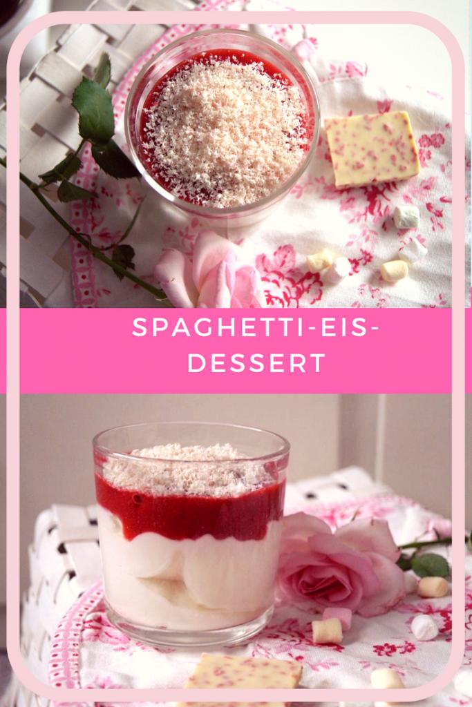 Spaghetti-Eis-Dessert