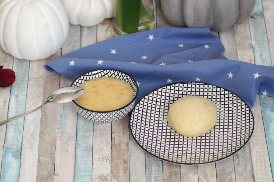 Pfälzer Dampfnudeln mit Kartoffelsuppe