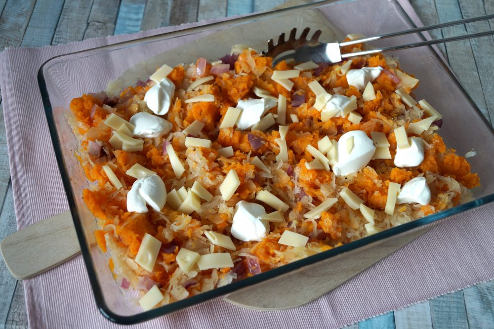 Sauerkraut Süßkartoffel Auflauf