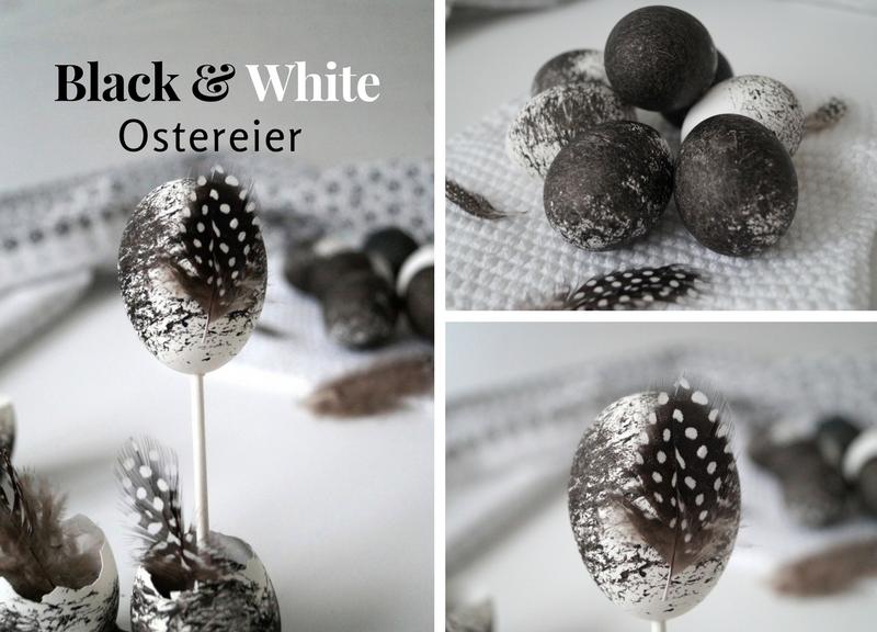 Black & White - schwarz-weiße Ostereier mit Reis färben - Pretty You