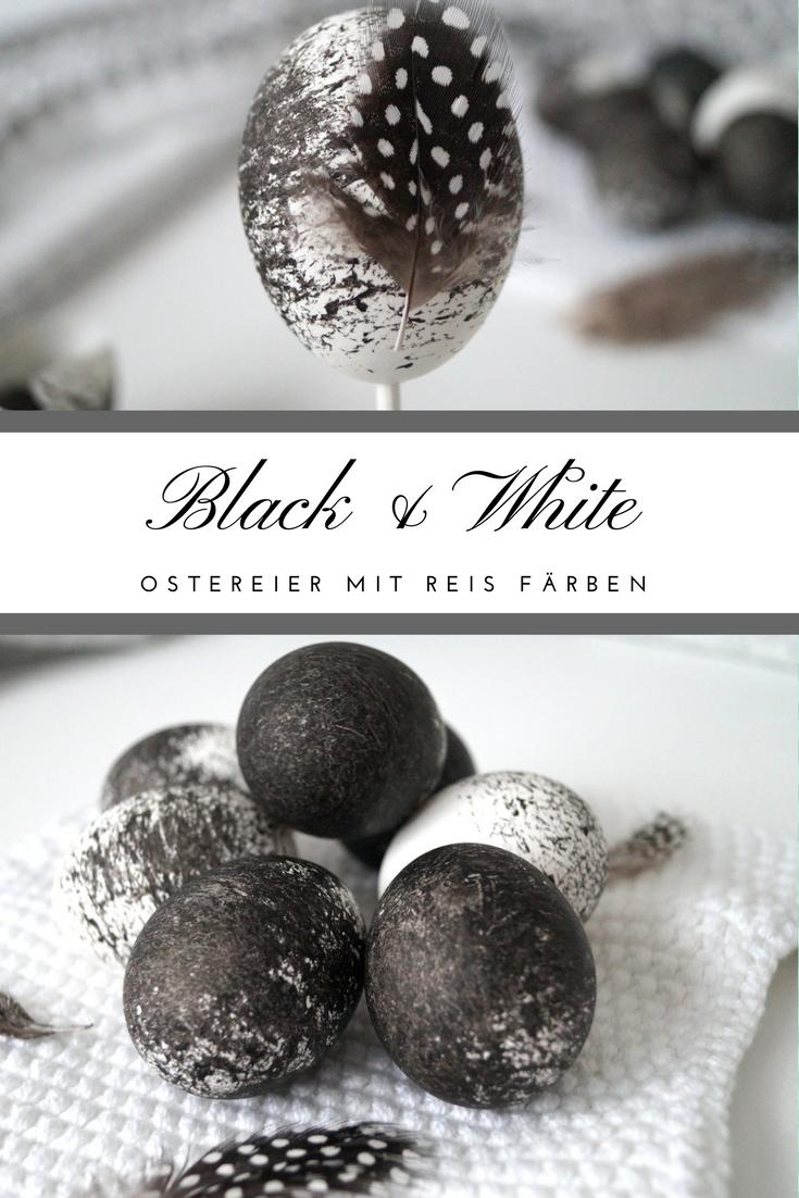 Schwarze Ostereier färben